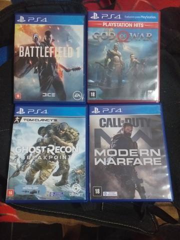 Vendo jogos ps4 bf e god of war 2 por 120 cod e Ghost recon 150