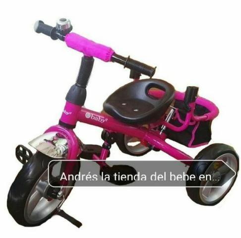 Triciclo Importado Premium 3 em 1: Carrinho de passeio, Triciclo e Bicicleta eBaby - Foto 4