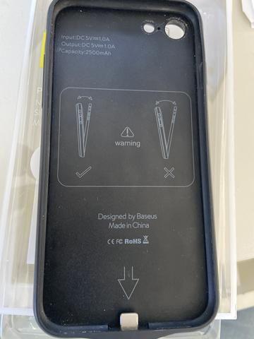 Case bateria Baseus para IPhone 7 ou iphone 8 brinde case motomo - Foto 3