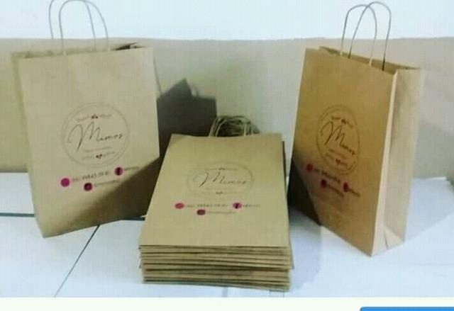 Trabalho com montagem de sacolas de papel zap * - Foto 4