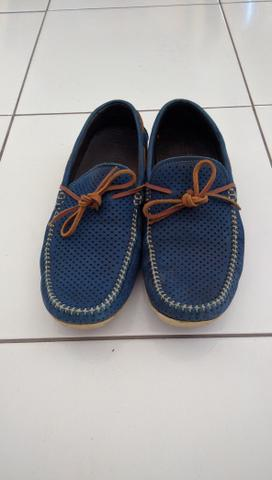 Sapato Homem do Sapato cor azul-Faço a entrega - Foto 3