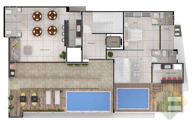 Lançamento! - Apartamento Duplex com 3 dormitórios à venda, 144 m² por R$ 605.303 - Aerocl - Foto 10