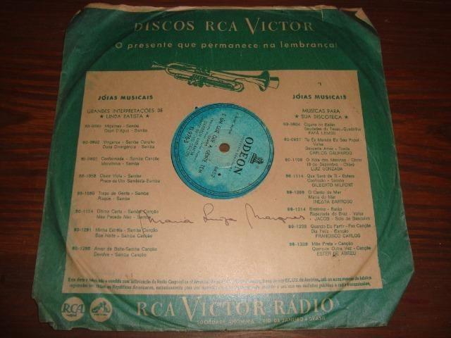 Carmem Miranda, Preço para Lote com 5 discos 78 rpm de 10 pol - Foto 2