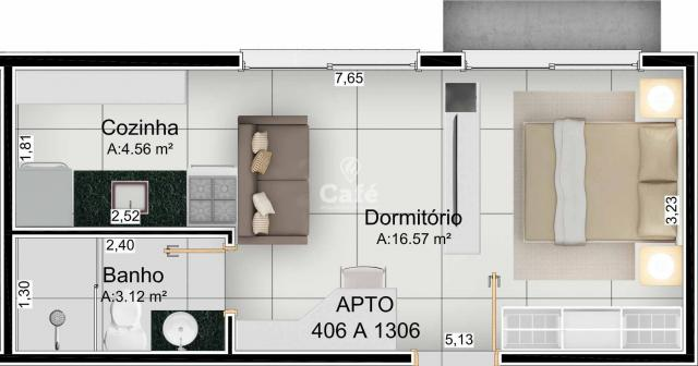 Apartamento Studio no bairro Nossa Senhora do Rosario - Foto 11