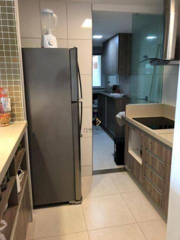 Apartamento com 76m² projetado e mobiliado no Porto das Dunas com 3 quartos sendo 2 suítes - Foto 6