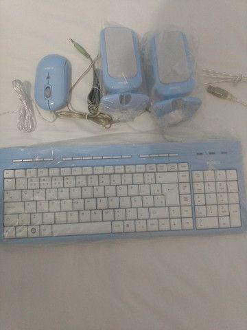 Kit Teclado, Mouse e Caixa de Som PC - Foto 3