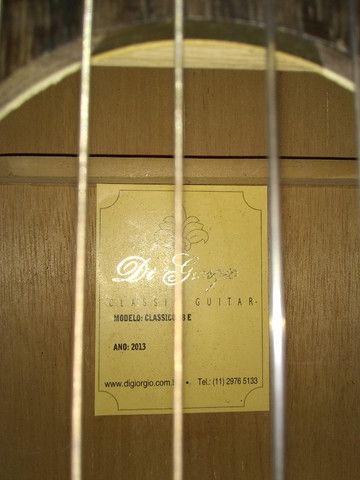 Violão Di Giorgio zerado( elétrico de naylon) - Foto 3