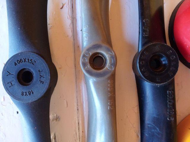 Vendo três hélices mais espiner para aeromodelismo - Foto 4