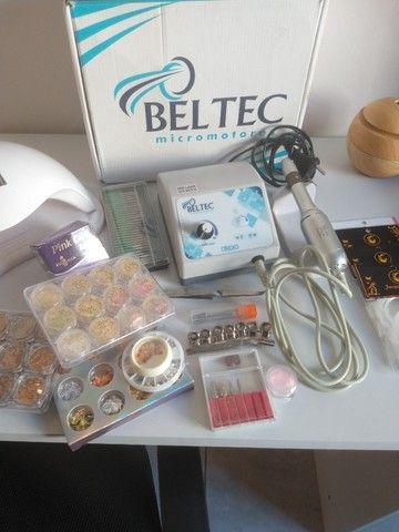 Kit com motor LB100 para unhas em gel - Foto 2