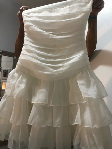 Vestido branco tomara que caia