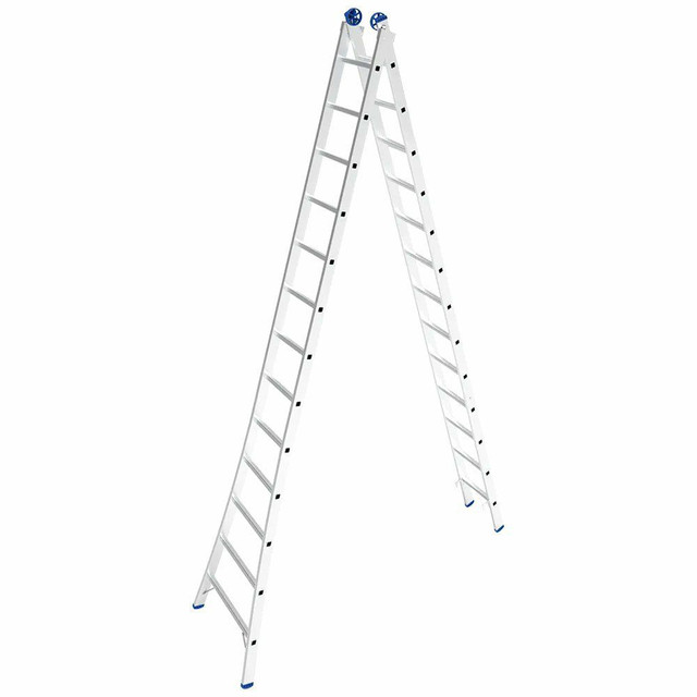 Escada extensível 26 degraus alumínio - Foto 2
