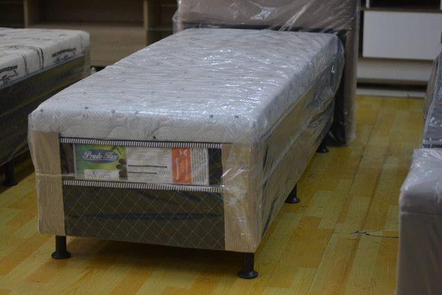 Cama box solteiro com 10 cm espuma - Novo - Foto 3