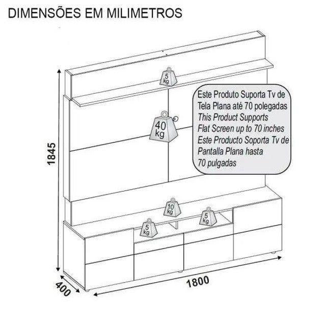 """Home Quadrus para TV de 65"""" - Entrega Grátis p/ Fortaleza - Foto 2"""