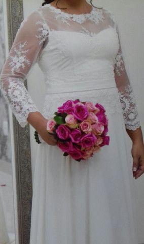 Vestido de noiva usado 1 vez só