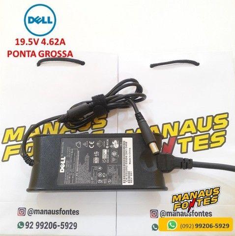Fonte Notebook Dell 19.5V 4.62A 90W Ponta Grossa  Novo c/ Garantia