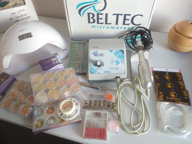 Kit com motor LB100 para unhas em gel - Foto 3
