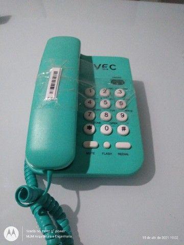 Telefone VEC verde sem uso