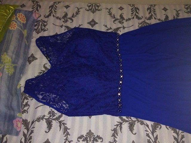 Vestido longo Azul de festa - Foto 3