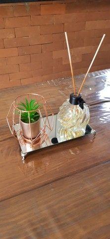 Bandejas Espelhada  Lavabo Aromatizador Saboneteira Luxo - Foto 2