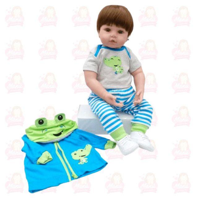 Bebê reborn corpo de tecido super macio e os membros de silicone