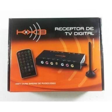 Receptor Tv Digital Automotivo Kx3 Busca Automatica Preto