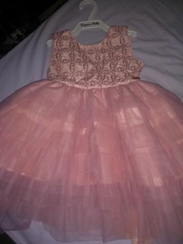 Vestido de festa rosa chá - Foto 2