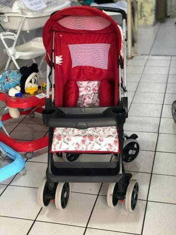 Carrinho De Bebe Feminino Vermelho Encantador - Foto 2