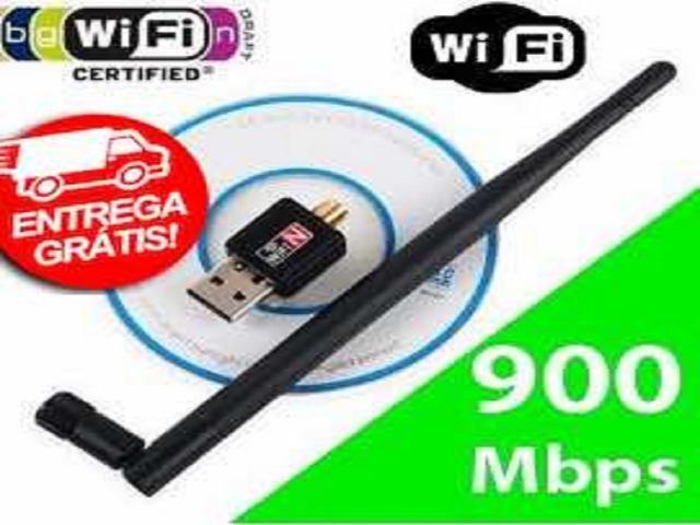 Sua.entrega-Gratis>Adaptador Usb Wifi 600mbps Antena s - Foto 2