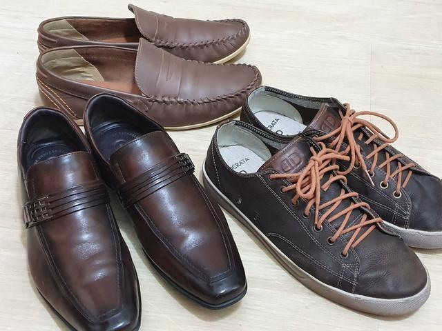 Sapato Jota Pe, Mocassim West Coast e Sapatênis Democrata números 41