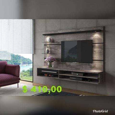 Painel veneza com tv até 55p (leds e suporte grátis) - Foto 2