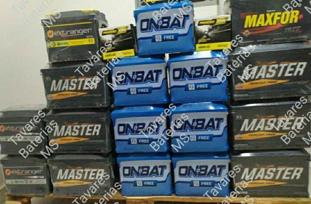Promoção de baterias. A BASE DE TROCA