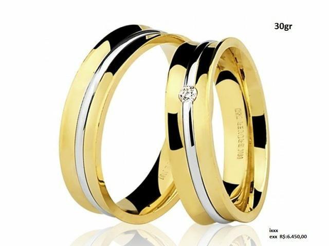 Aliança de casamento, em ouro 18k, em até 12x no Cartão Premium!! - Foto 6