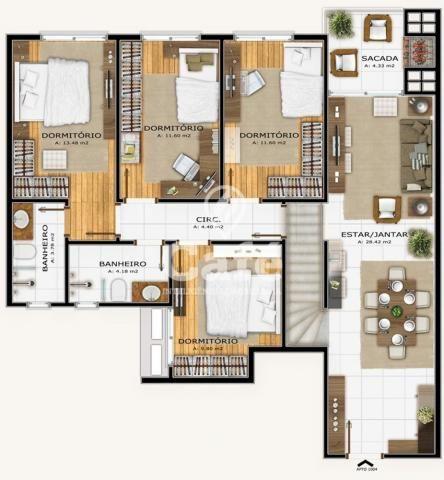 Apartamento à venda com 3 dormitórios em Nossa senhora das dores, Santa maria cod:1293 - Foto 5