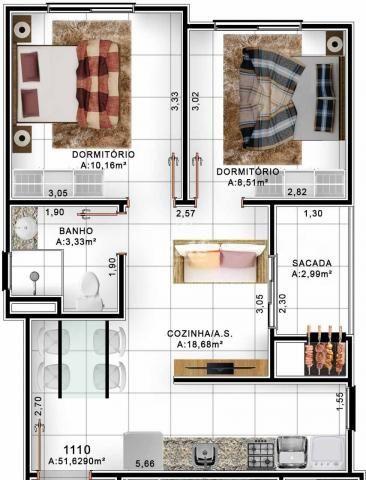 Apartamento de 2 dormitórios com garagem no Centro de Santa Maria - Foto 9