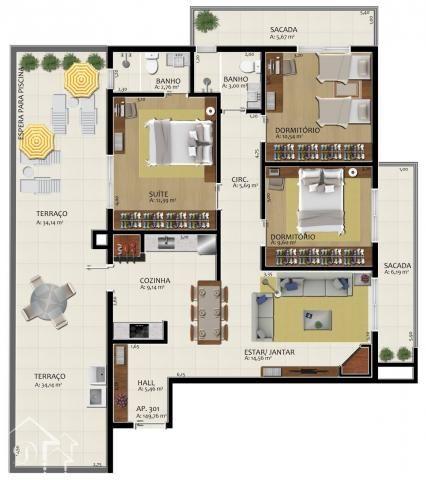 Apartamento à venda com 3 dormitórios em Nossa senhora de fátima, Santa maria cod:10168 - Foto 6