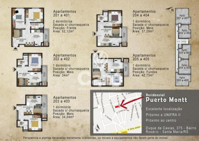 Apartamento à venda com 2 dormitórios em Centro, Santa maria cod:1085 - Foto 6