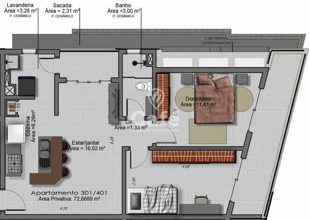 Apartamento, Edifício Torre Della Felicita, 2 dormitórios, garagem - Foto 4