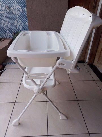 Banheira Bebê Suporte Splash - Peixinho Azul  - Foto 4
