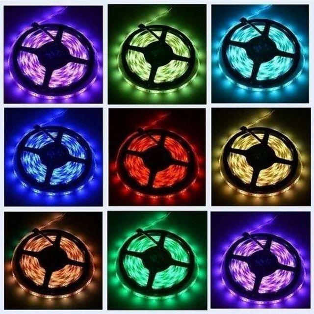 Fita De Led 5050 5mts Super Luz Branco Frio 300 Leds 24W 12V - Foto 2