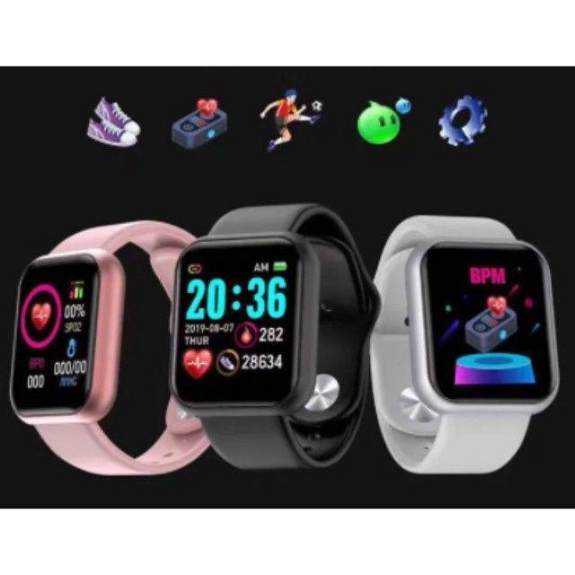 Y68 Relógio Inteligente D20 Bluetooth Digital Homens Esporte - Foto 6