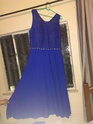 Vestido longo Azul de festa