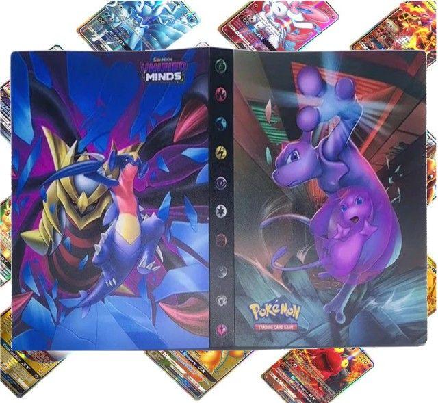 Álbum Pokémon + 100 Cartas Originais de Brinde