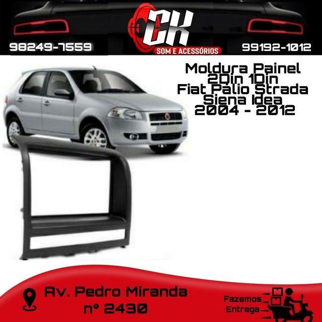 Moldura Painel 2Din 1Din Fiat Pálio Strada Siena Idea