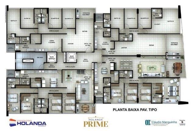 BR- Apartamento na Beira Mar de Casa Caida - 144m²   Varanda Gourmet Holanda Prime - Foto 17