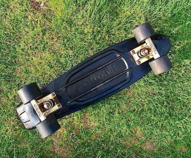 Skate cruiser Kronik Black Gold - usado - Foto 2