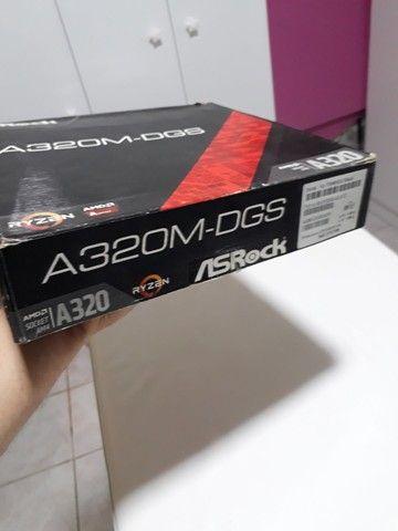 Placa mãe AMD A320M (Defeituosa) - Foto 5