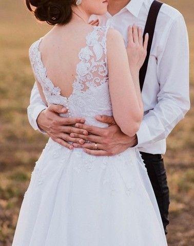 Vestido de noiva manequim 36 - Foto 6