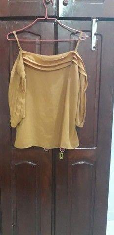 Calça Jens e blusa cor mostarda - Foto 3