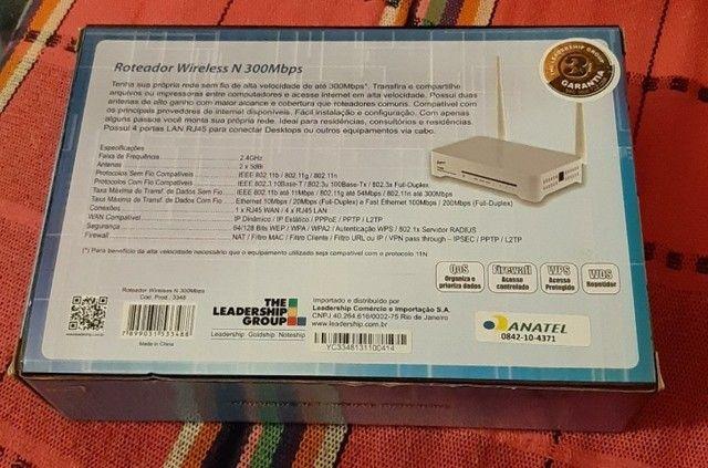 Roteador Leadership Wireless N 300mbps 3348 - Novo - Foto 2