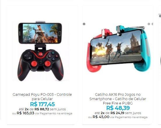 Controle para Celular - Gamepads e Gatilhos para seu Smartphone - Foto 2